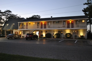 Front of Motel Evening