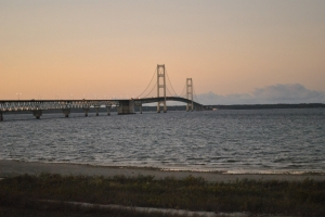 Mackinac Bridge at Dusk