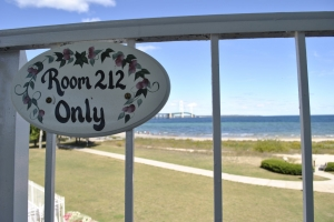 Room 212 View of Mackinac Bridge